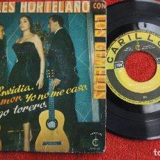 Discos de vinilo: ANGELES HORTELANO CON LOS GEMELOS - ENVIDIA + 3 - CARILLON 1960. Lote 183294266