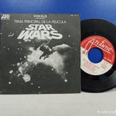 Discos de vinilo: SINGLE DISCO VINILO DON ELLIS TEMA PRINCIPAL STAR WARS. Lote 183299357