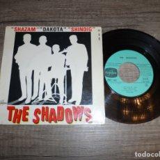 Discos de vinilo: THE SHADOWS - SHAZAM +3 (FRANCE 1964). Lote 183300370
