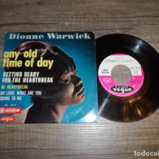 Discos de vinilo: DIONNE WARWICK - ANY OLD TIME OF DAY / MR HEARTBREAK +2. Lote 183301212