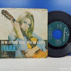 Discos de vinilo: SINGLE DISCO VINILO IVANA NO ME LO PUEDO CREER. Lote 183306720
