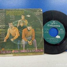 Discos de vinilo: SINGLE DISCO VINILO LOS POSTERS 1 2 3 LUZ ROJA. Lote 183308703