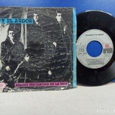 Discos de vinilo: SINGLE DISCO VINILO POLANSKY Y EL ARDOR ATAQUE PREVENTIVO DE LA URSS. Lote 183311871