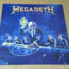 Discos de vinilo: MEGADETH - RUST IN PEACE (LP REEDICIÓN) NUEVO. Lote 195332656
