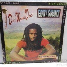 Discos de vinilo: SUPERSINGLE-EDDY GRANT-I DON'T WANNA DANCE EN FUNDA ORIGINAL AÑO 1982. Lote 183319845