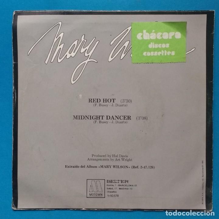 Discos de vinilo: MARY WILSON - RED HOT - Foto 2 - 183321366