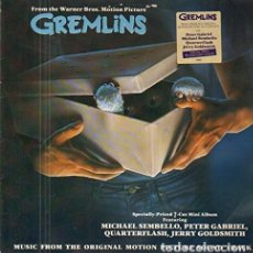 Discos de vinilo: GREMLINS OST - JERRY GOLDSMITH, PETER GABRIEL, MICHAEL SEMBELLO, QUARTERFLASH ETC. Lote 183322230