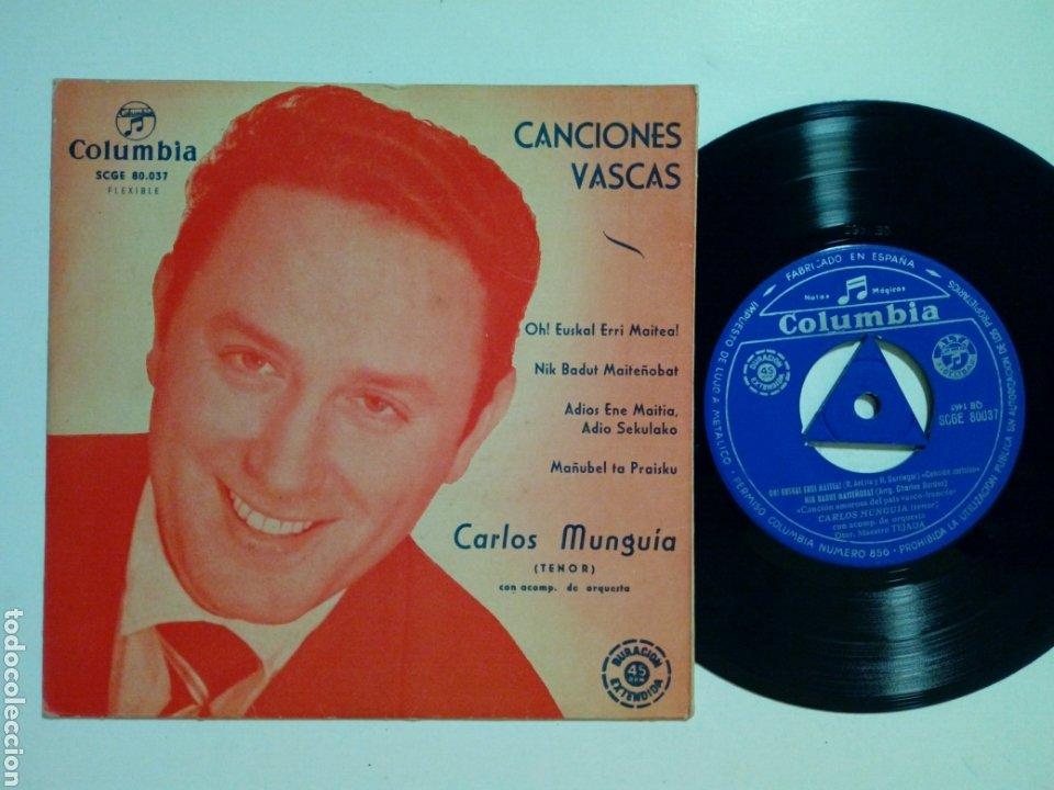 EP: CARLOS MUNGUIA - CANCIONES VASCAS: OH! EUSKAL ERRI MAITEA + NIK BADUT MAITEÑOBAT (COLUMBIA 1962) (Música - Discos de Vinilo - EPs - Clásica, Ópera, Zarzuela y Marchas)