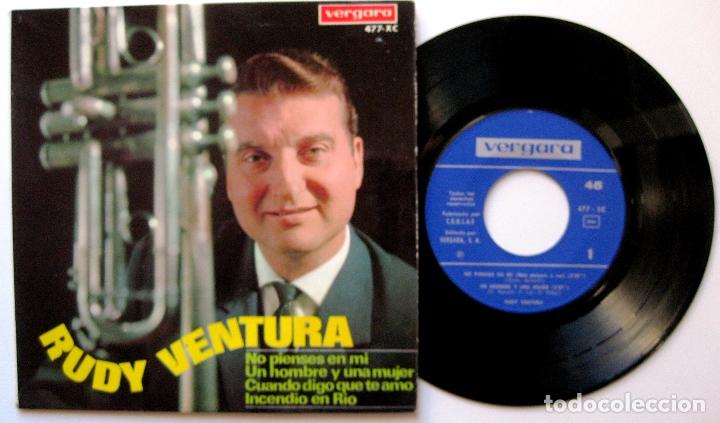RUDY VENTURA - NO PIENSES EN MI +3 - EP VERGARA 1967 BPY (Música - Discos de Vinilo - EPs - Solistas Españoles de los 50 y 60)