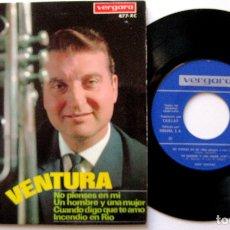 Discos de vinilo: RUDY VENTURA - NO PIENSES EN MI +3 - EP VERGARA 1967 BPY. Lote 183323796