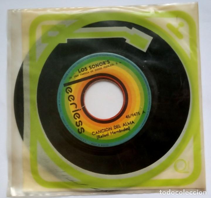 Discos de vinilo: LOS SONORS - cozumel / cancion del alma - SINGLE MEXICANO 1969 - PEERLESS - Foto 2 - 183324382