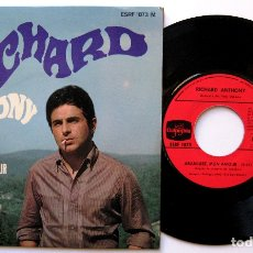 Discos de vinilo: RICHARD ANTHONY - ARANJUEZ, MON AMOUR +2 - EP COLUMBIA 1967 FRANCIA BPY. Lote 183324906