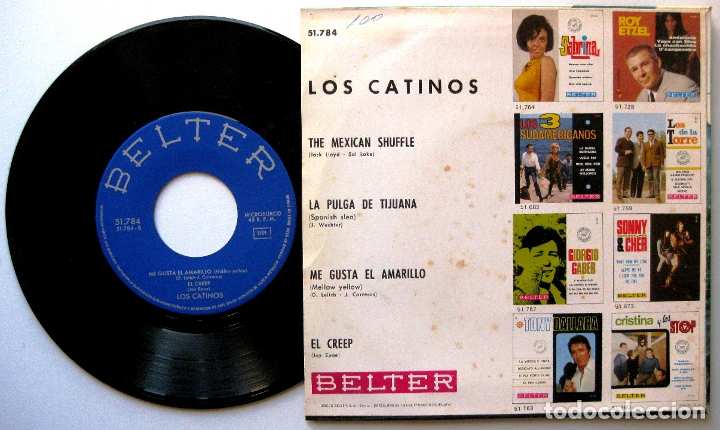 Discos de vinilo: Los Catinos - The Mexican Shuffle +3 - EP Belter 1967 BPY - Foto 2 - 183325700
