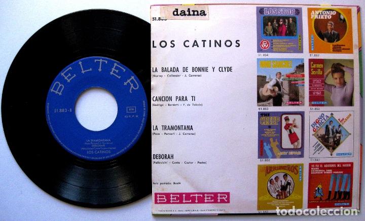 Discos de vinilo: Los Catinos - La Balada De Bonnie Y Clyde +3 - EP Belter 1968 BPY - Foto 2 - 183326351