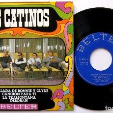 Discos de vinilo: LOS CATINOS - LA BALADA DE BONNIE Y CLYDE +3 - EP BELTER 1968 BPY. Lote 183326351