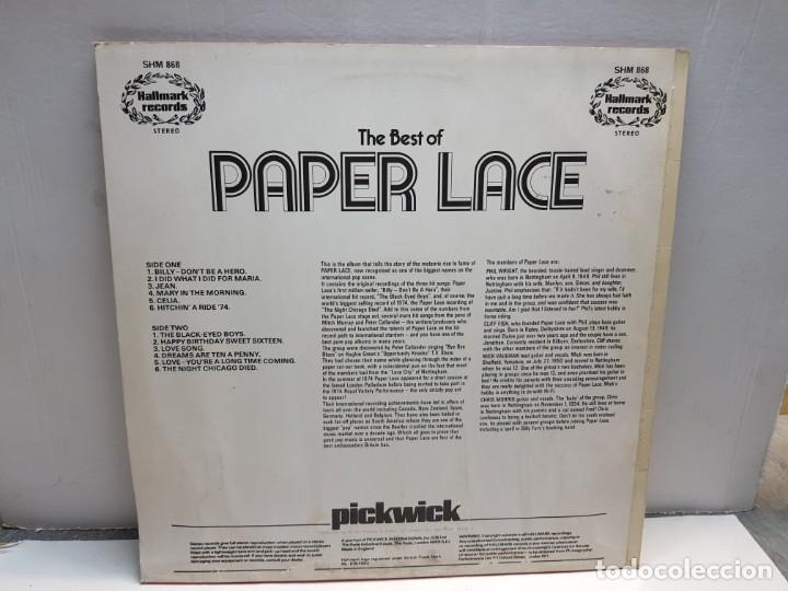 Discos de vinilo: LP-PAPER LACE-THE BEST OF en funda original 1974 - Foto 2 - 183328285