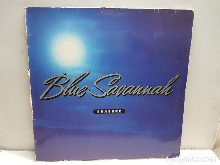 MAXISINGLE -ERASURE-BLUE SAVANNAH EN FUNDA ORIGINAL 1990 (Música - Discos - LP Vinilo - Pop - Rock - New Wave Extranjero de los 80)
