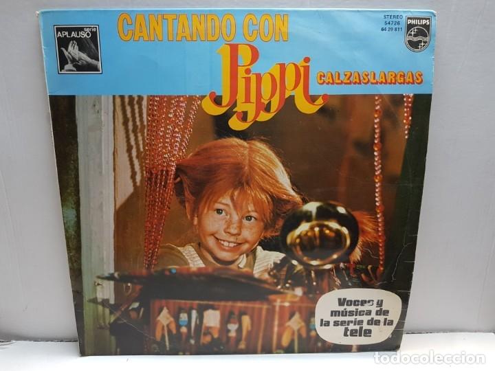 LP -CANTANDO CON PIPPI CALZASLARGAS- EN FUNDA ORIGINAL 1975 (Música - Discos - LPs Vinilo - Música Infantil)