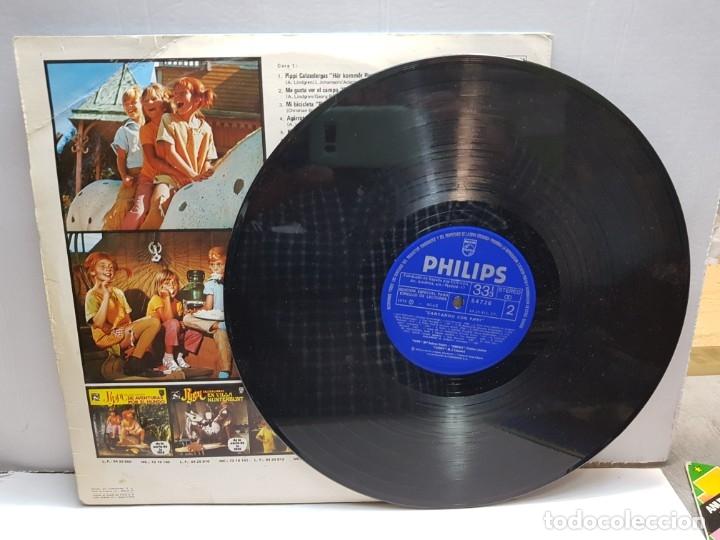 Discos de vinilo: LP -CANTANDO CON PIPPI CALZASLARGAS- en funda original 1975 - Foto 3 - 183331962