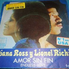 Discos de vinilo: SINGLE - DIANA ROSS Y LIONEL RICHIE - AMOR SIN FIN /ENDLESS LOVE. Lote 183345767