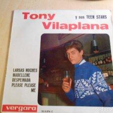 Discos de vinilo: TONY VILAPLANA, EP, LARGAS NOCHES + 3, AÑO 1964. Lote 183358440