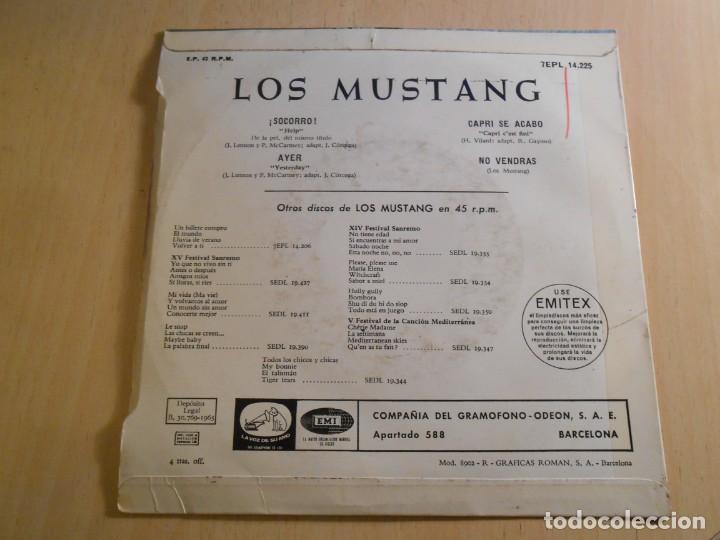 Discos de vinilo: MUSTANG, EP, ¡ SOCORRO ! (HELP) (Beatles) + 3, AÑO 1965 - Foto 2 - 183359502