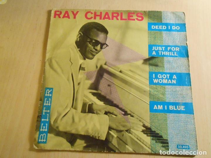 RAY CHARLES, EP, DEED I DO + 3, AÑO 1961 (Música - Discos de Vinilo - EPs - Jazz, Jazz-Rock, Blues y R&B)