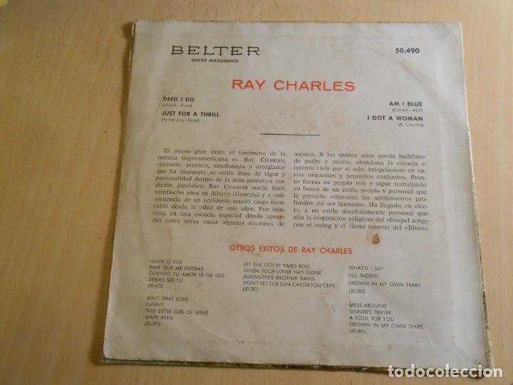 Discos de vinilo: RAY CHARLES, EP, DEED I DO + 3, AÑO 1961 - Foto 2 - 183360066