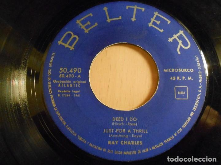 Discos de vinilo: RAY CHARLES, EP, DEED I DO + 3, AÑO 1961 - Foto 3 - 183360066