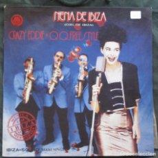 Discos de vinilo: CRAZY EDDIE + Q.Q.FREESTYLE. NENA DE IBIZA. DEDICADO. BLANCO Y NEGRO MUSIC, MX - 252, 1990. EX EX.. Lote 183365410