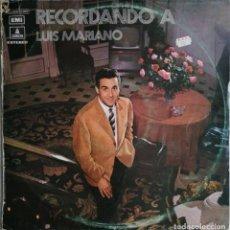 Discos de vinilo: LUIS MARIANO-RECORDANDO A LUIS MARIANO VOL. 1, ODEON 1 J 054-11.910. Lote 183366476