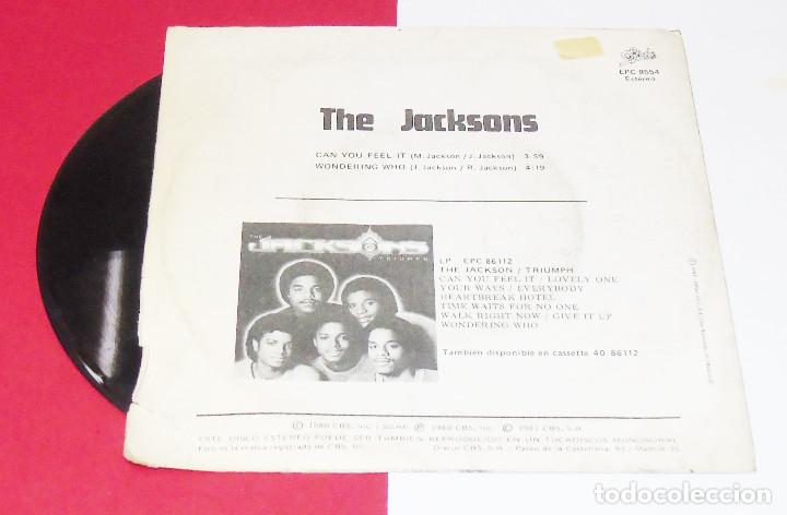 Discos de vinilo: THE JACKSONS CAN YOU FEEL IT /WONDERING WHO ---EDICION 1981 - Foto 2 - 183368377
