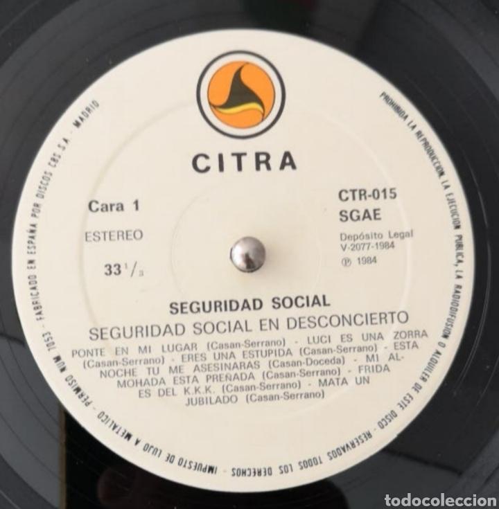 Discos de vinilo: SEGURIDAD SOCIAL - EN DESCONCIERTO - MUY BUEN ESTADO - LP RARO DIFICIL - Foto 2 - 183380728