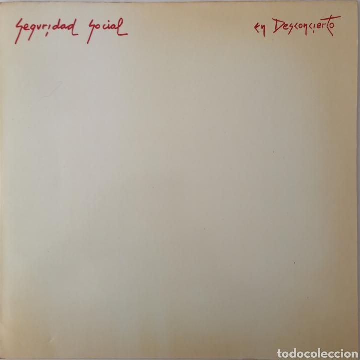 SEGURIDAD SOCIAL - EN DESCONCIERTO - MUY BUEN ESTADO - LP RARO DIFICIL (Música - Discos - LP Vinilo - Punk - Hard Core)