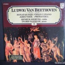 Discos de vinilo: LUDWING VAN BEETHOVEN. SONATAS PARA VIOLIN Y PIANO. LOS GRANDES COMPOSITORES DE SALVAT. 1982. Lote 183385132