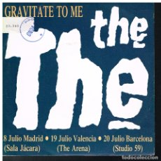 Discos de vinilo: THE THE - GRAVITATE TO ME - SINGLE 1989 - PROMO. Lote 183385748