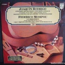 Discos de vinilo: JOAQUIN RODRIGO. FEDERICO MOMPOU. LOS GRANDES COMPOSITORES DE SALVAT. 1982. Lote 183386427