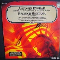 Discos de vinilo: ANTONIN DVORAK. BEDRICH SMETANA. LOS GRANDES COMPOSITORES DE SALVAT. 1982. Lote 183386640