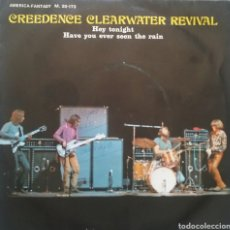Discos de vinilo: GREEDENCE CLEARWATER REVIVAL. SINGLE PROMOCIONAL. SELLO AMÉRICA RÉCORDS. EDITADO EN ESPAÑA. AÑO 1971. Lote 183387006
