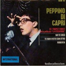 Discos de vinilo: ST. TROPEZ TWIST - PEPPINO DI CAPRI. Lote 181333375