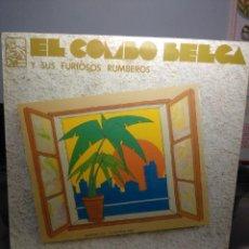 Discos de vinilo: LP EL COMBO BELGA Y SUS FURIOSOS RUMBEROS : EN SU PROPIA SALSA. Lote 183391373