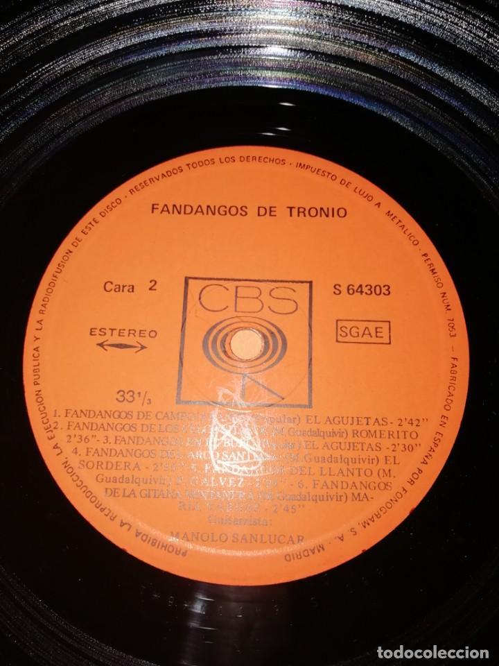 Discos de vinilo: LP DE VINILO DE FANDANGOS DE TRONIO MUY BUEN ESTADO . ESPECIAL COLECCIONISTAS. CBS 1970 - Foto 5 - 183407571
