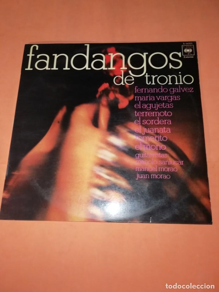 LP DE VINILO DE FANDANGOS DE TRONIO MUY BUEN ESTADO . ESPECIAL COLECCIONISTAS. CBS 1970 (Música - Discos - LP Vinilo - Flamenco, Canción española y Cuplé)