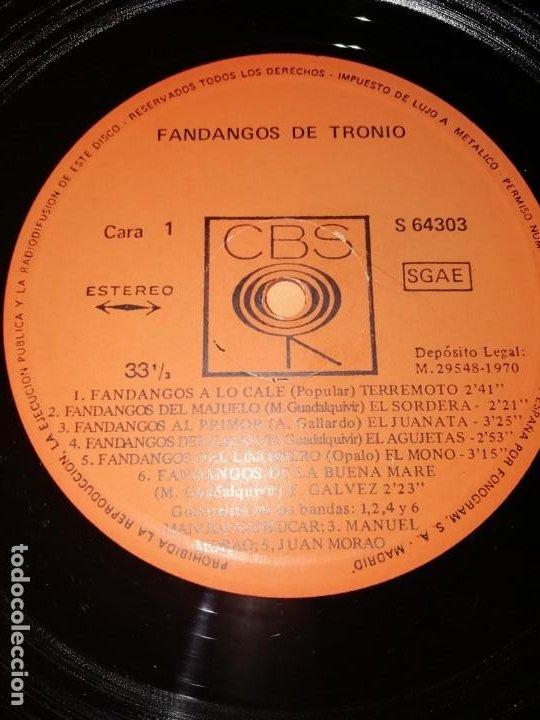 Discos de vinilo: LP DE VINILO DE FANDANGOS DE TRONIO MUY BUEN ESTADO . ESPECIAL COLECCIONISTAS. CBS 1970 - Foto 4 - 183407571
