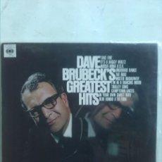Discos de vinilo: DAVE BRUBECK GREATEST HITS. Lote 183409105