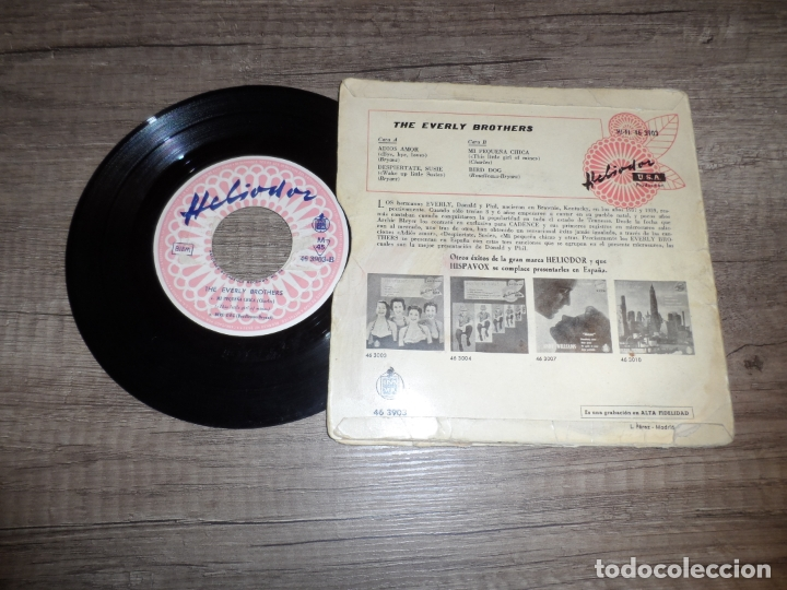 Discos de vinilo: THE EVERLY BROTHERS - ADIOS AMOR + 3 - Foto 2 - 183409942