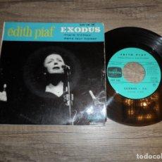 Discos de vinilo: EDITH PIAF – EXODUS / MARIE TROTTOIR / DANS LEUR BAISER. Lote 183410560
