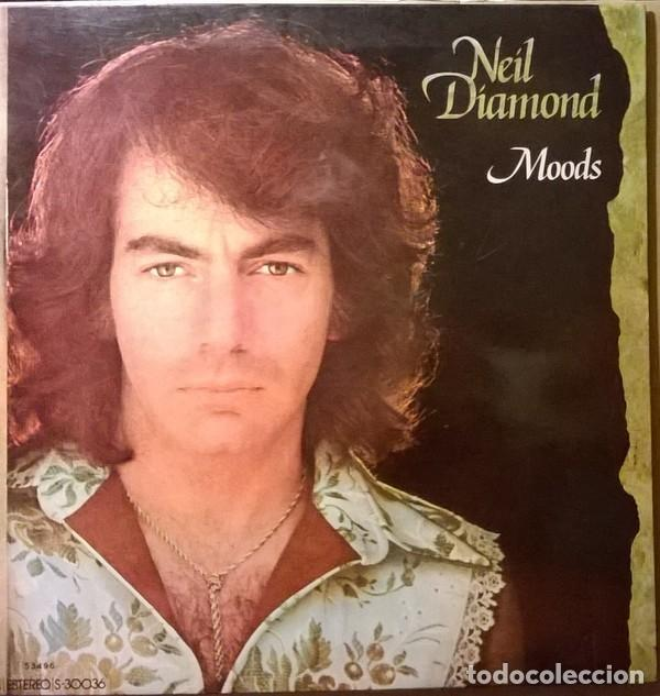 LP NEIL DIAMOND ‎– MOODS (Música - Discos de Vinilo - EPs - Pop - Rock Extranjero de los 70	)