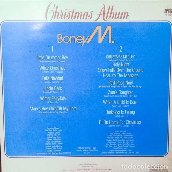 LP PROMO BONEY M. – CHRISTMAS ALBUM (Música - Discos de Vinilo - EPs - Pop - Rock Extranjero de los 70)