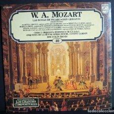 Discos de vinilo: W. A. MOZART. LAS BODAS DE FIGARO. DON GIOVANI. LOS GRANDES COMPOSITORES DE SALVAT. 1982. Lote 183415578